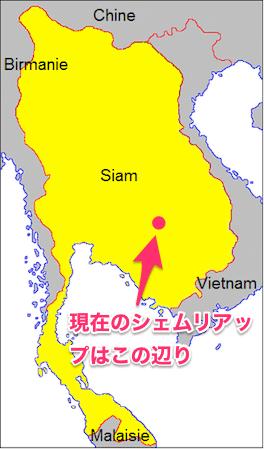 1809当時のタイの勢力図