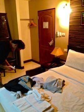 カオサンのホテルの部屋