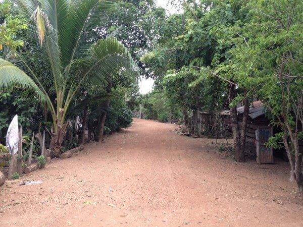 アランヤプラテートの田舎道