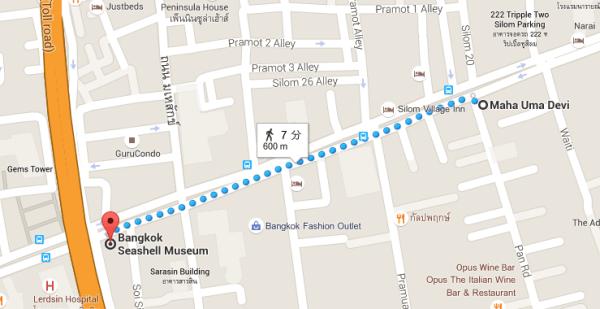 ワットマハウマテウィへの地図