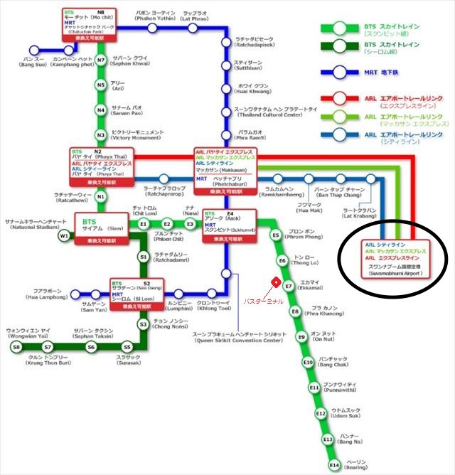 バンコクの路線図最新版