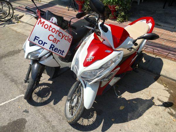 カンチャナブリ レンタルバイク
