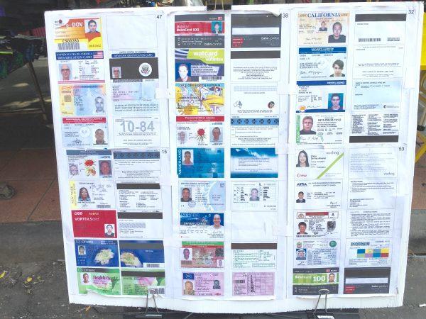 偽造免許証