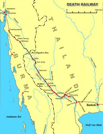 戦時中の泰緬鉄道