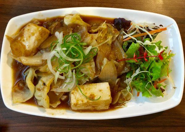 マグロと豆腐のソテー