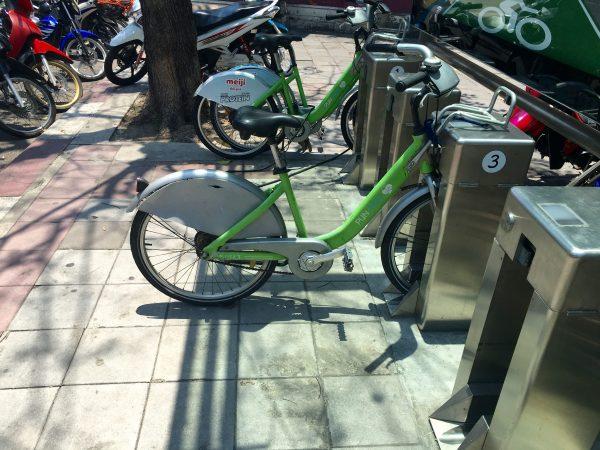 ルンピニー公園のレンタル自転車