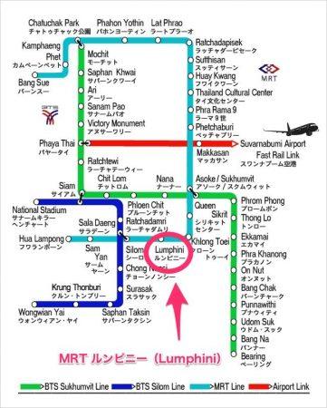 BTS路線図 MRTルンピニー