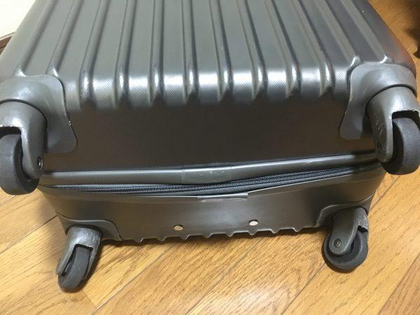 レンタルしたスーツケース キャスター