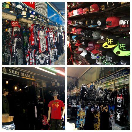 バンコクのストリートブランド店