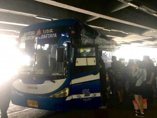 スワンナプーム発パタヤ行きのバス