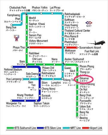 BTS エッカマイ MAP