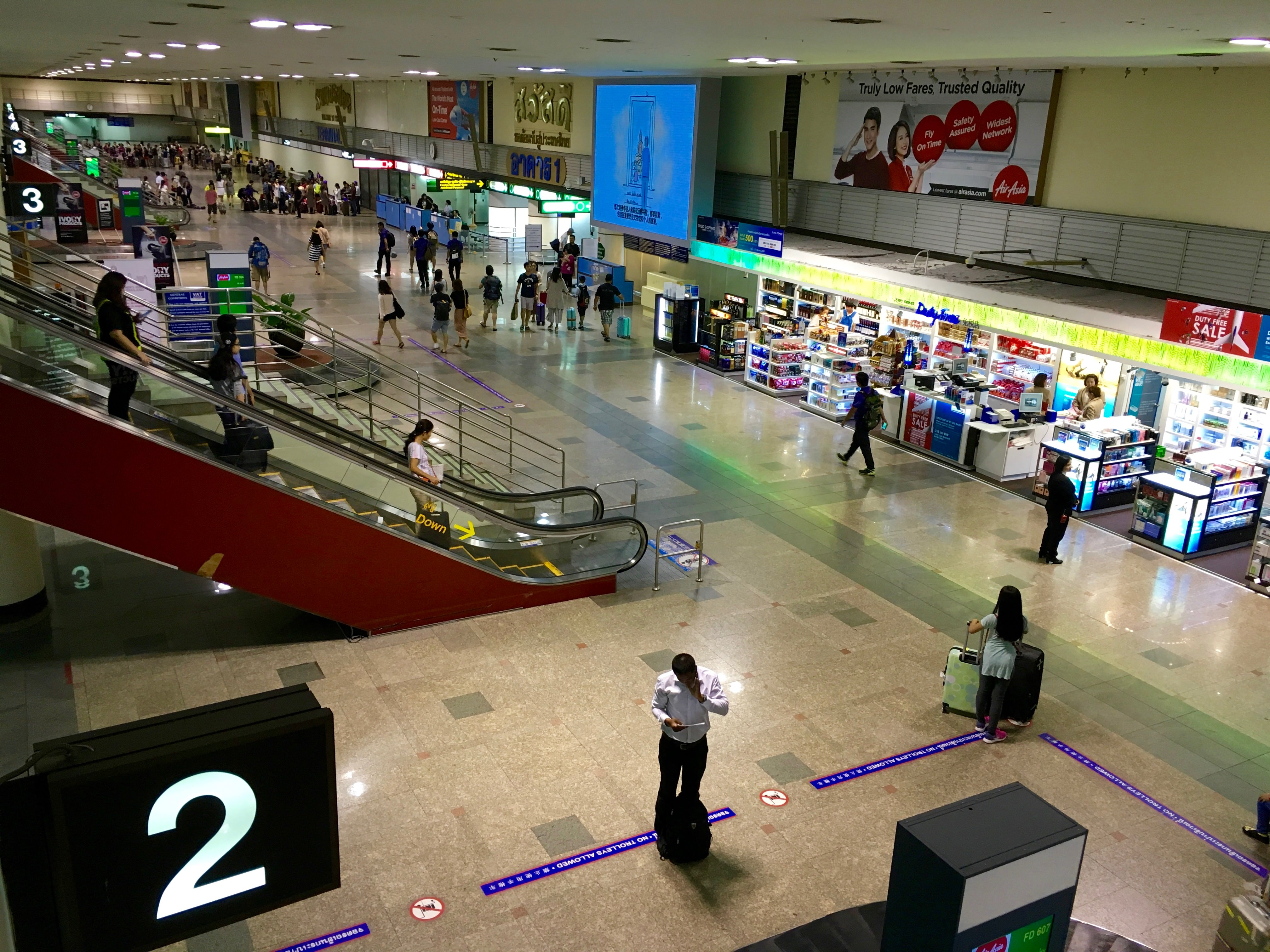 ドンムアン空港到着ゲート