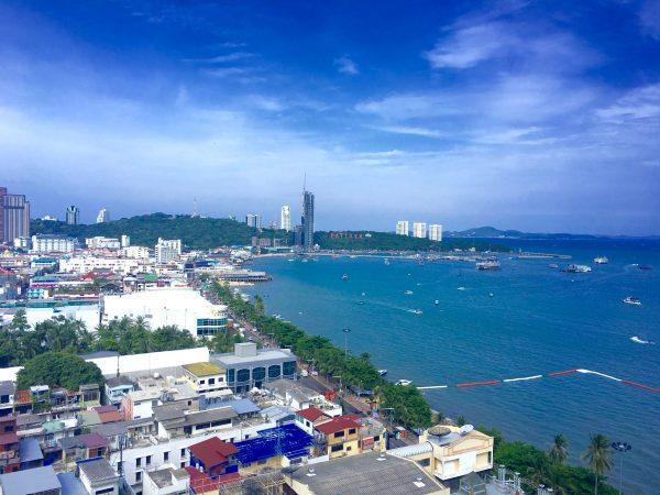 パタヤセンターホテル 客室から見える景色