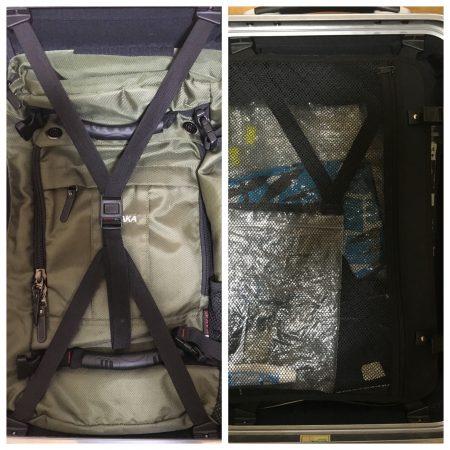一般的なスーツケース内の構造