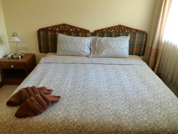 アユタヤ ホテルのベッド