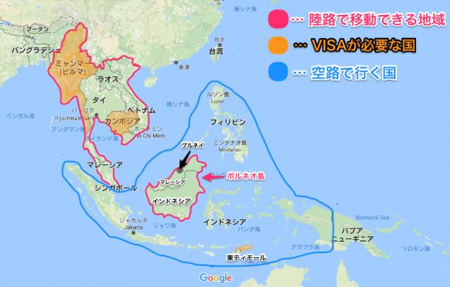 東南アジアMAP
