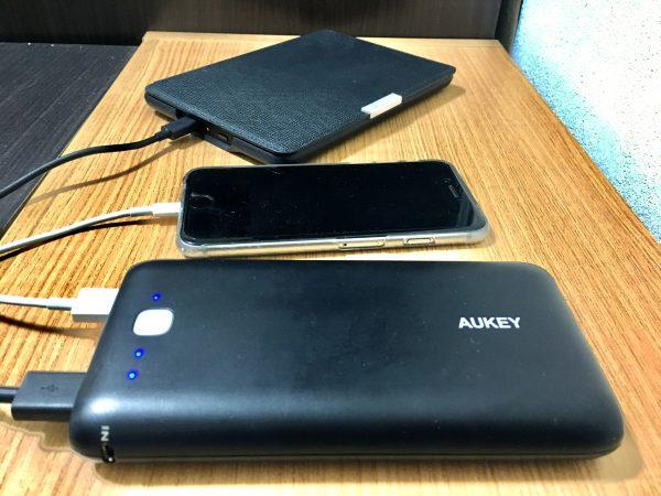 AUKEYのモバイルバッテリー1