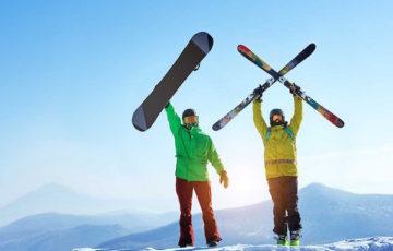 スキー場リゾートバイター2人