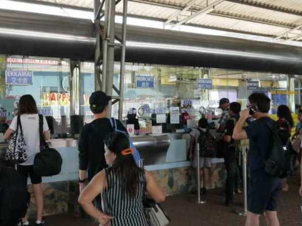 パタヤノースバスターミナルのチケットカウンター