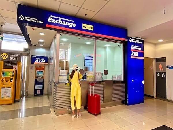 チェンマイ空港内の両替ブース