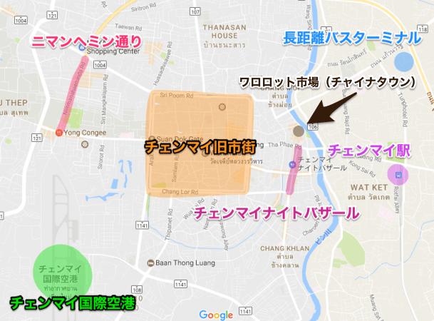 チェンマイ市街マップ