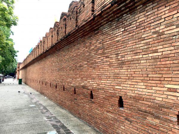 チェンマイ旧市街の城壁