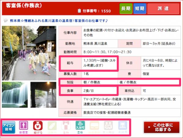 熊本の温泉旅館求人