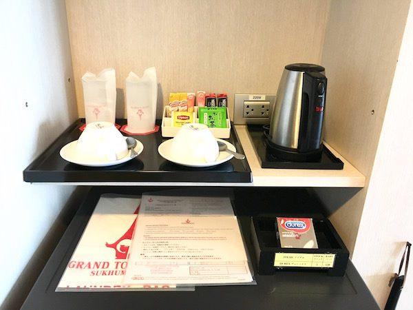 グランド タワー イン スクンビット 55 ホテル (Grand Tower Inn Sukhumvit 55 Hotel)の湯沸かしポッド