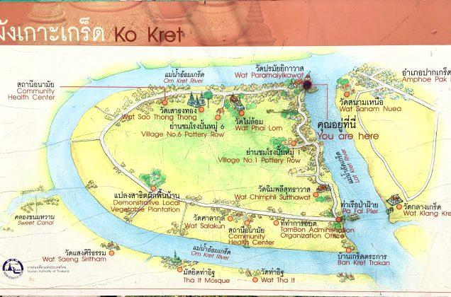 クレット島の地図