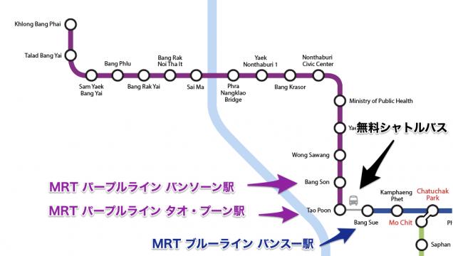 MRT パープルラインのMAP4