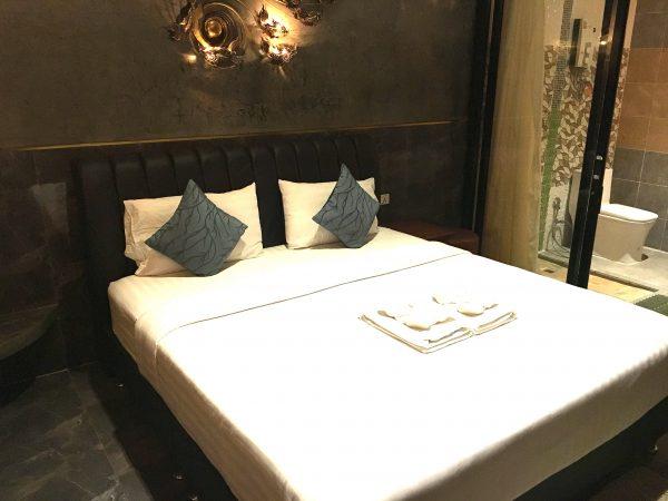 フォレストスコータイゲストハウスのベッド