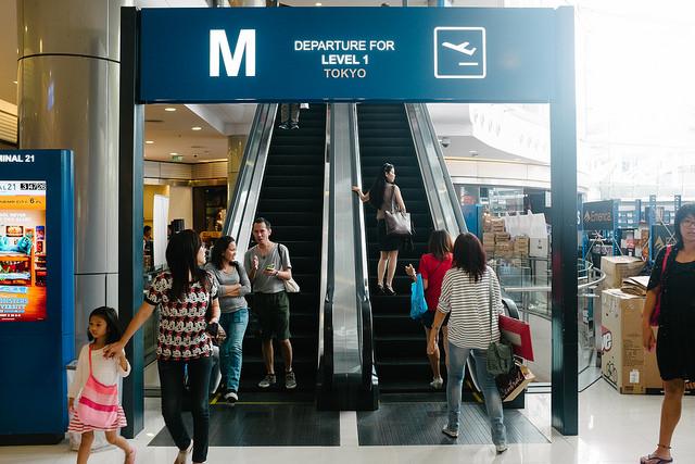 ターミナル21の到着ゲート