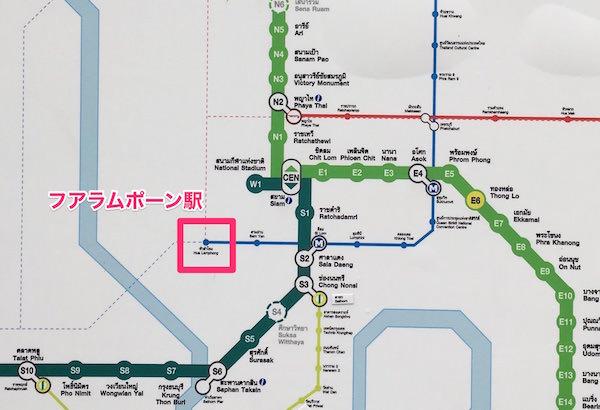 BTSマップ フアラムポーン駅
