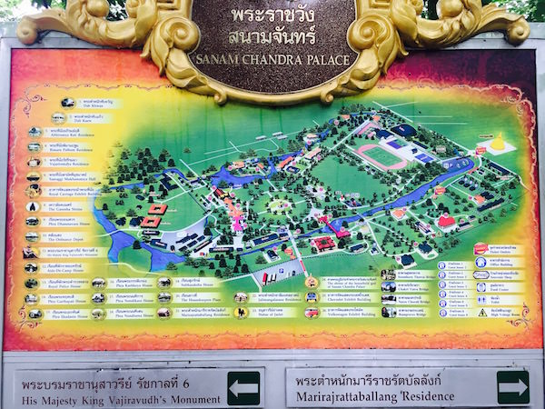 サナームチャン宮殿のMAP
