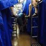 チェンマイ行きの寝台列車の様子