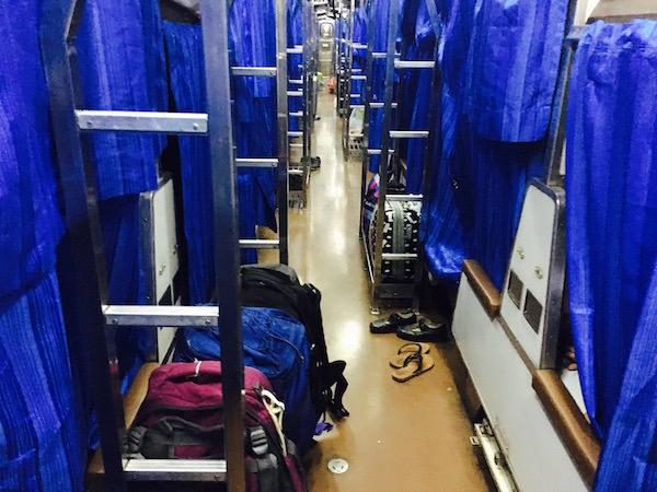 寝台列車 荷物
