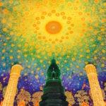 ワットパクナム大仏塔最上階にある仏伝図