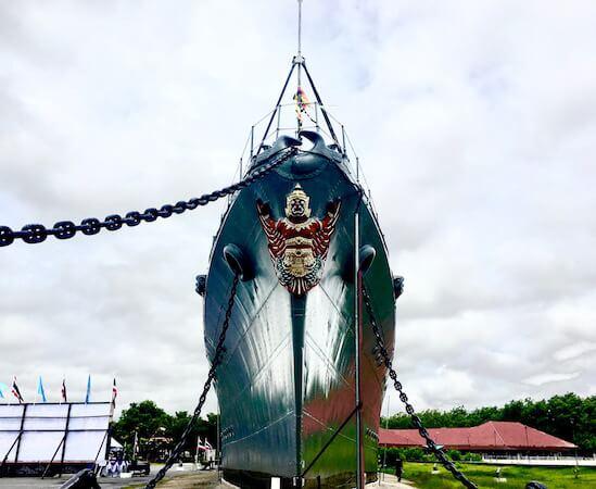 メークロン号という日本の戦艦を見学できるタイ海軍施設「プラジュンジョムクラオ要塞」