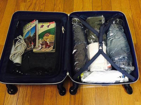 収納後のシフレスーツケース