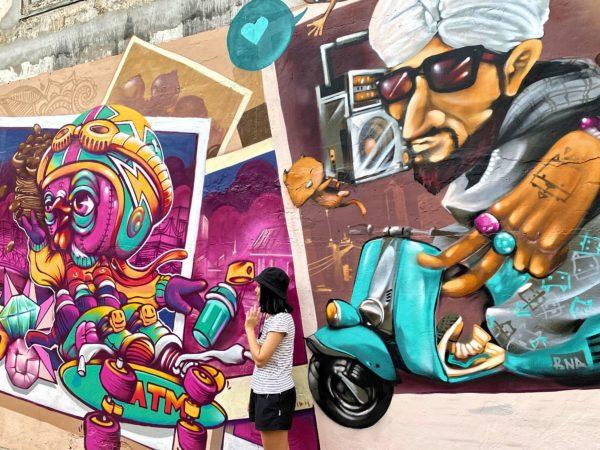 クローン オンアン ウォーキングストリート(Klong Ong Ang Walking Street)のストリートアート2
