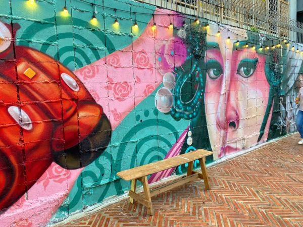 クローン オンアン ウォーキングストリート(Klong Ong Ang Walking Street)のストリートアート3