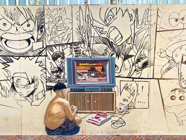クローン オンアン ウォーキングストリート(Klong Ong Ang Walking Street)のストリートアート4