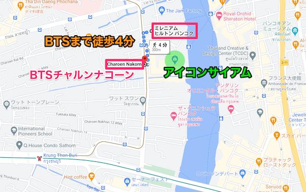 BTSゴールドラインの地図