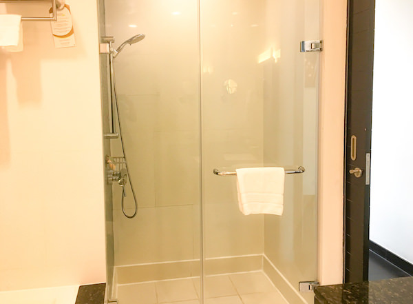 チャトリウム ホテル リバーサイド バンコク (Chatrium Hotel Riverside Bangkok)グランドルーム リバービューのシャワーブース