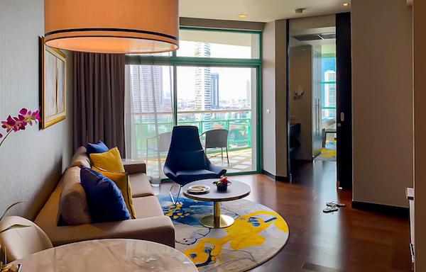 チャトリウム ホテル リバーサイド バンコク (Chatrium Hotel Riverside Bangkok)のグランドスイート 1ベッドルーム リバービュー