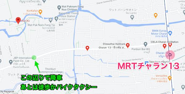 ワット・コー(Wat Ko)周辺の地図