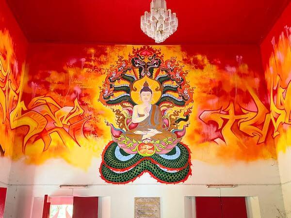 ワット・コー(Wat Ko)仏堂内の壁画3