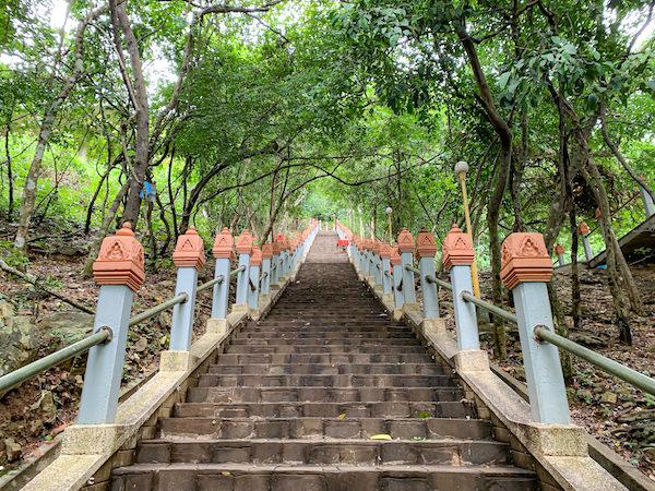 ウドン遺跡の階段