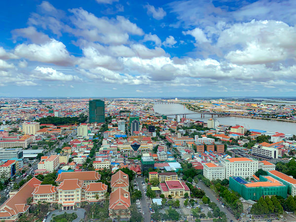 ローズウッド プノンペン(Rosewood Phnom Penh)の客室から見える景色