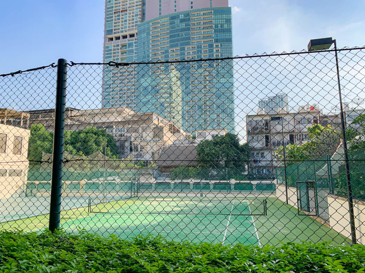 ザ ペニンシュラ バンコク(The Peninsula Bangkok)のテニスコート
